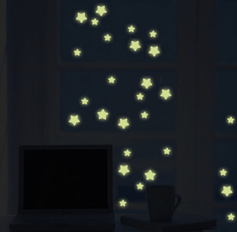 Glow in the dark sterren babykamer  127 stuks - kinderkamer muursticker