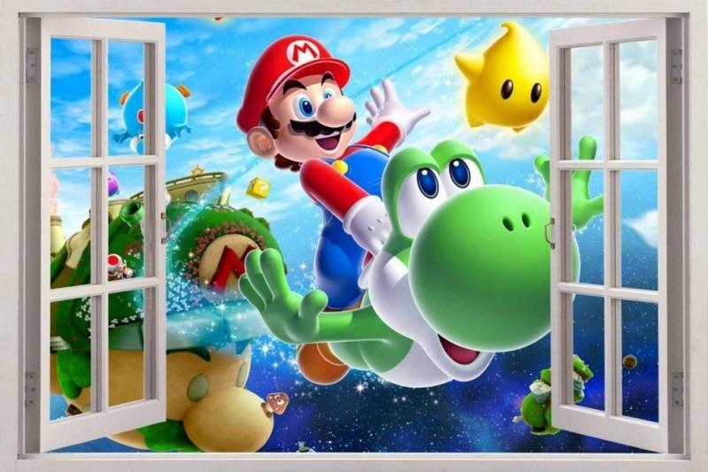 Super Mario en Yoshi Nintendo muursticker