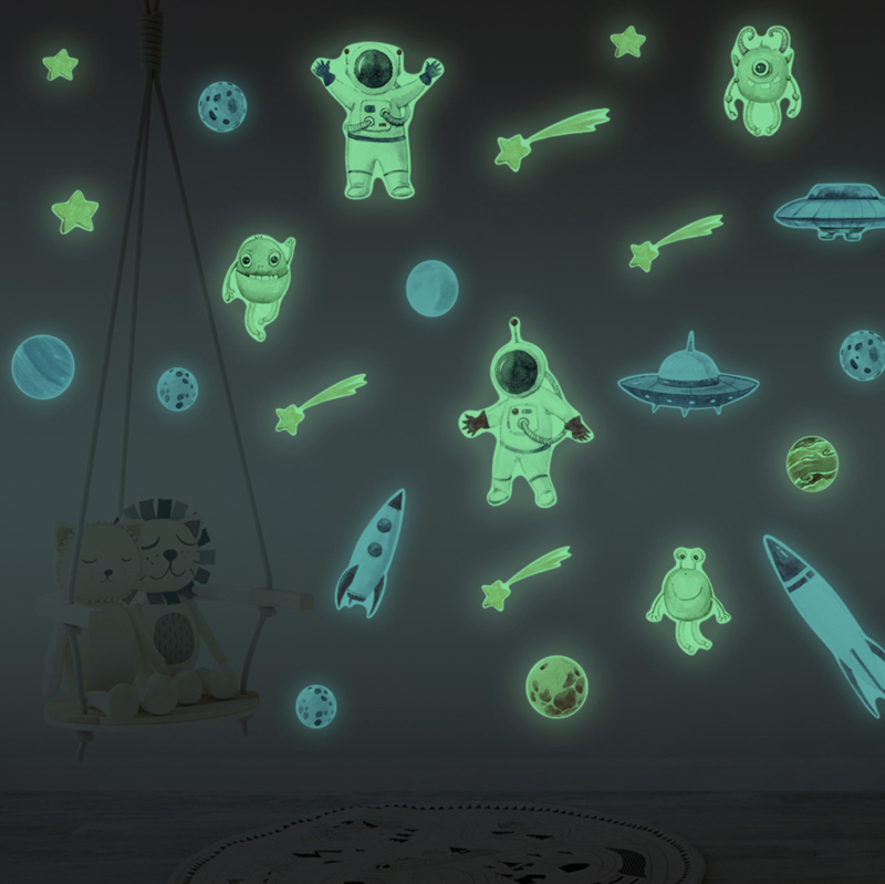 Glow in the dark ruimte kinderkamer
