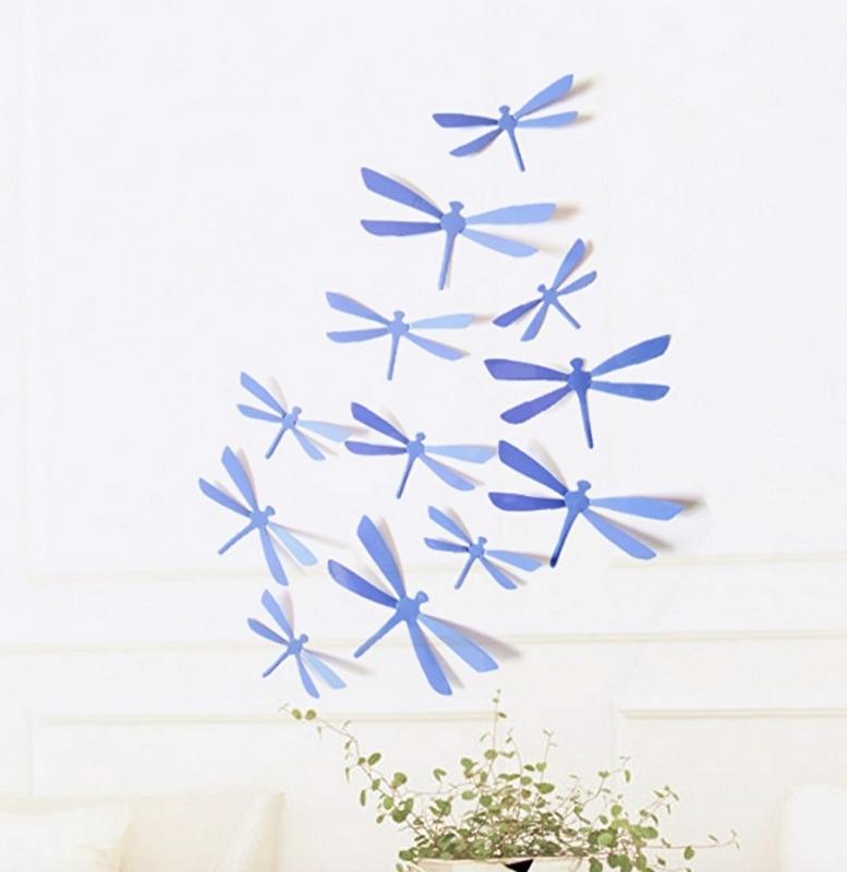 3D libellen paars