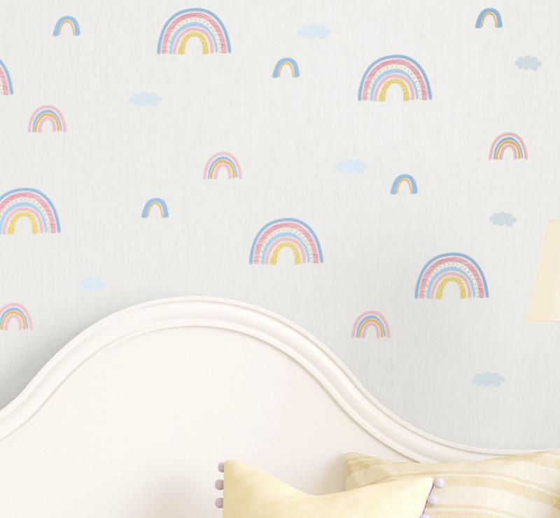 Muursticker regenboog mini regenbogen kinderkamer / babykamer (1)