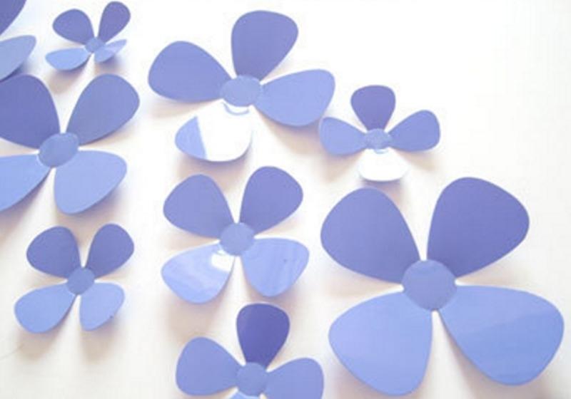 3D bloemen paars