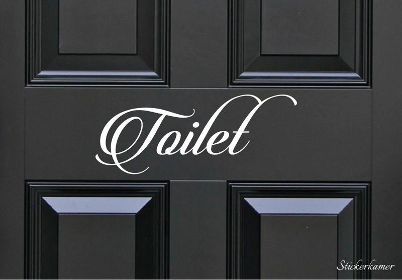 Decoratiesticker toilet