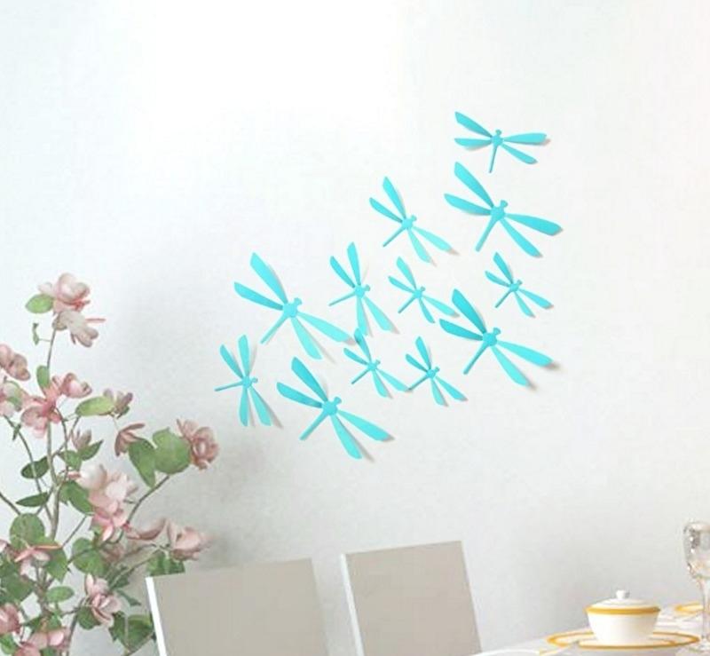 3D libellen licht blauw