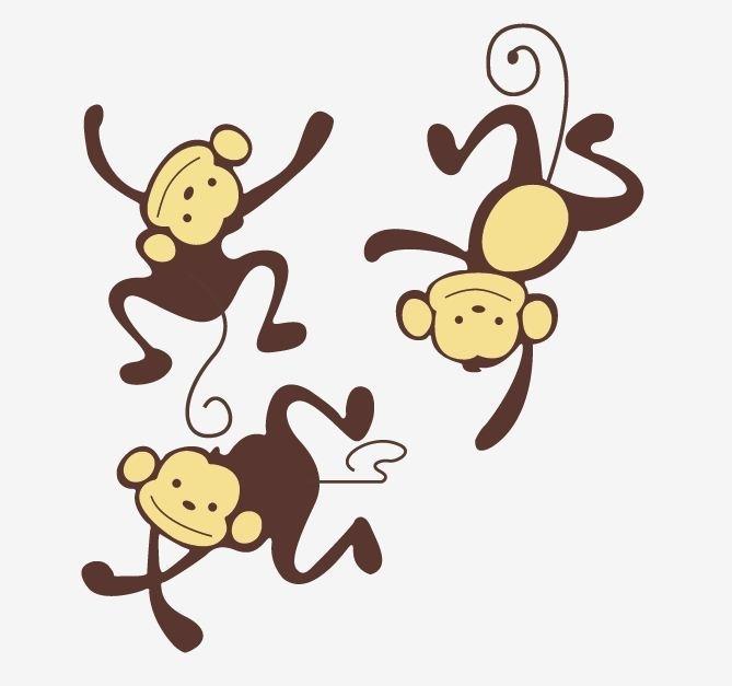 Muursticker jungle apen kinderkamer