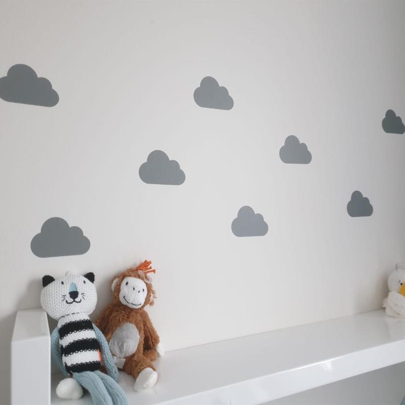 Muursticker wolken print / patroon