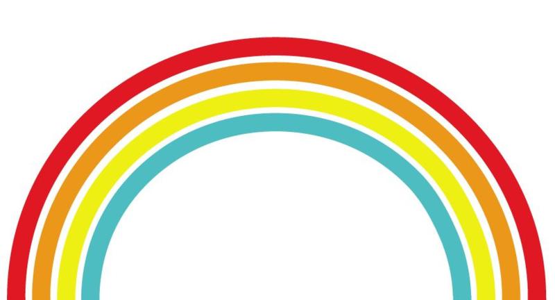 Muursticker regenboog k3 kleuren