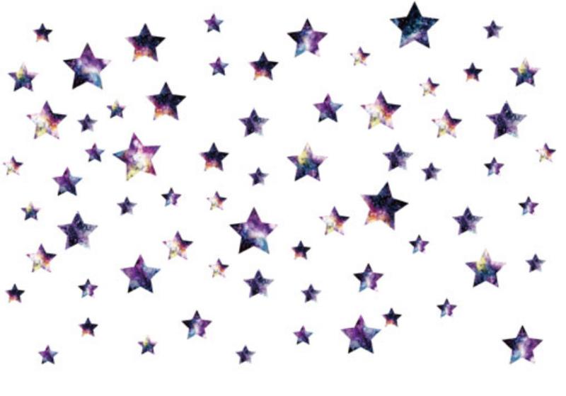 Muursticker galaxy ruimte sterren kinderkamer