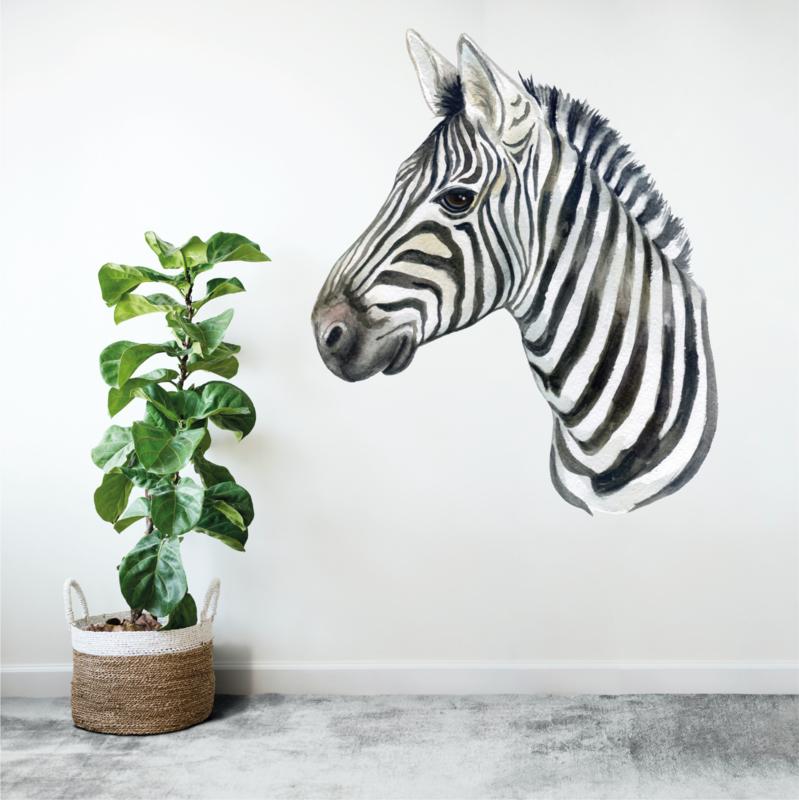 Muursticker zebra afrika