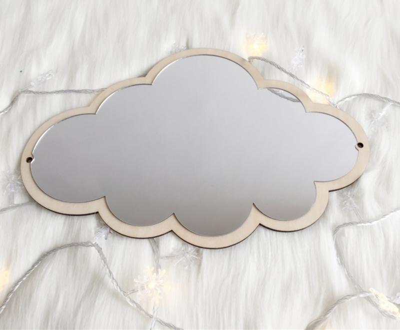 Spiegel wolkje kinderkamer