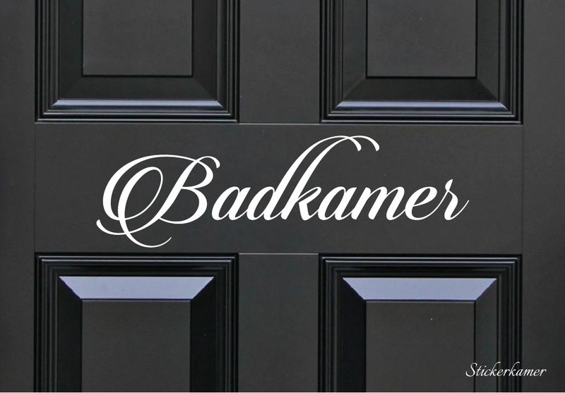 Decoratiesticker badkamer