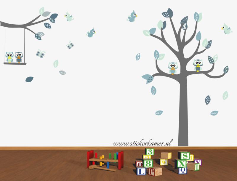 Muursticker boom en tak (Mint) (grow tree) Waninge
