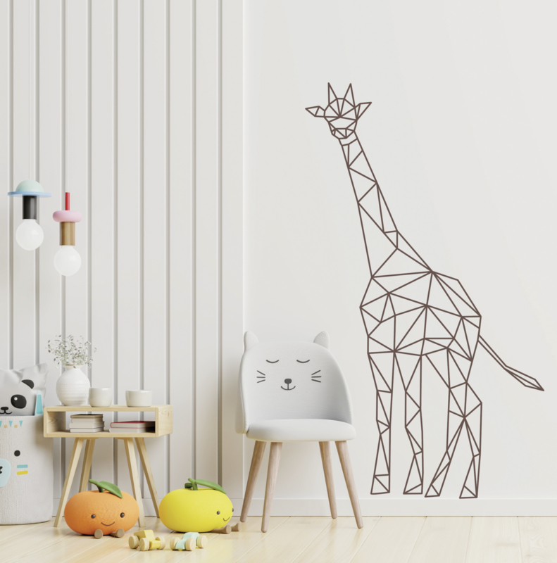 Muursticker giraffe geometrisch  design