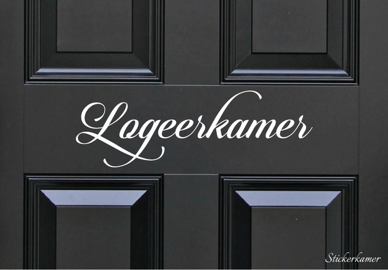 Decoratiesticker logeerkamer
