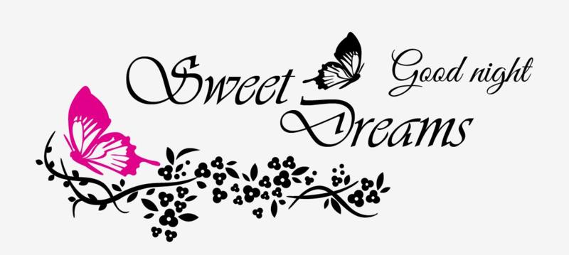 Muursticker sweet dreams good night