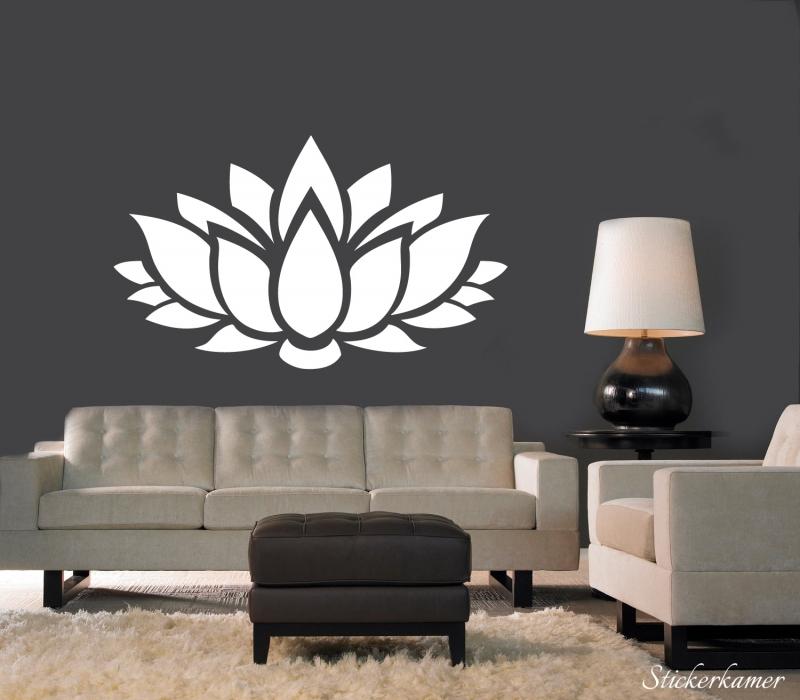 Muursticker lotus bloem yoga