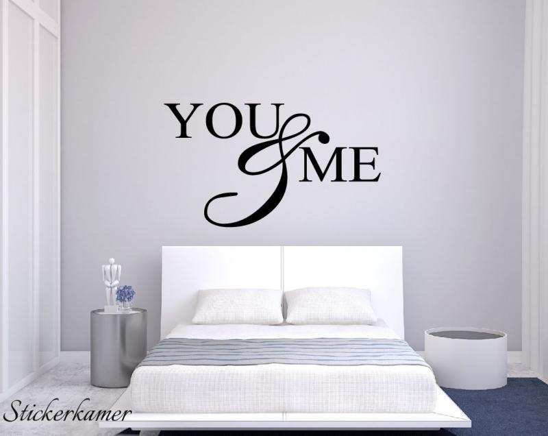 You & Me slaapkamer muurstekst