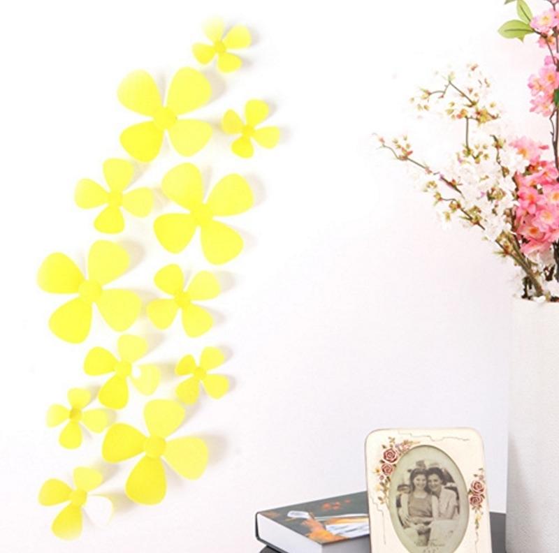 3D bloemen geel