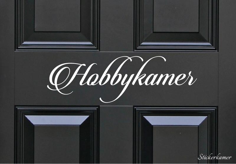 Decoratiesticker hobbykamer