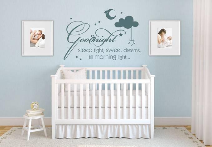 Goodnight sleep tight, sweet dreams, till morning light...