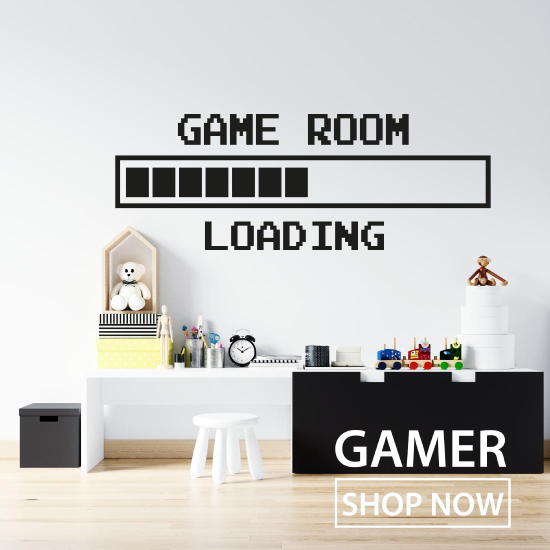 Muursticker gamer gaming jongen jongenskamer