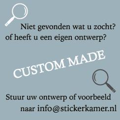 Custom sticker op maat eigen afbeelding