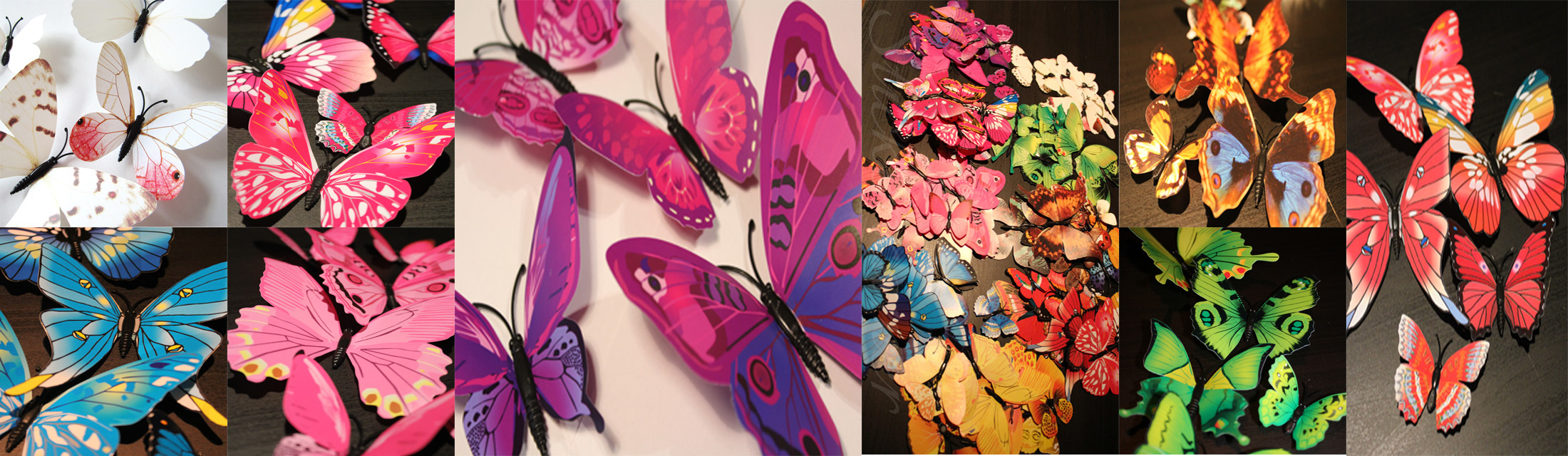 3d vlinders kleurrijk
