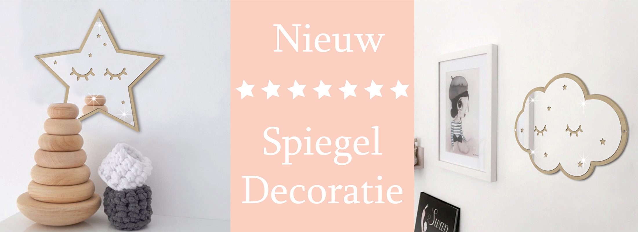 Kinderkamer spiegel decoratie
