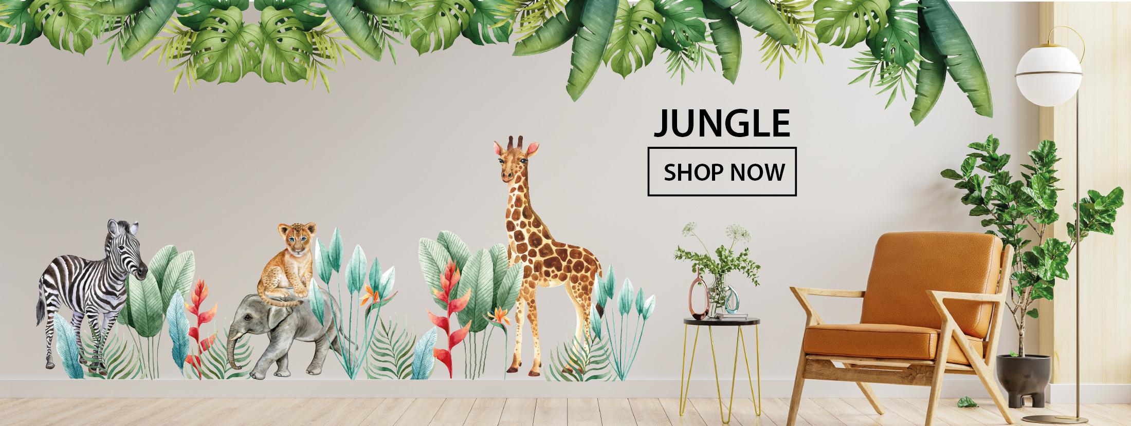 Jungle muurstickers