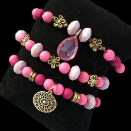 Inspiratieset flower pink
