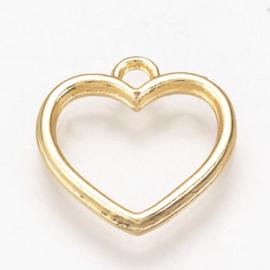 Bedel hartje open goud