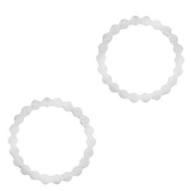 Roestvrij stalen (RVS) Stainless steel bedels/tussenstuk circle Zilver