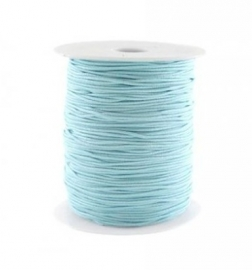 Elastiek aqua blauw 1mm
