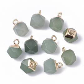 Bedel facet gemstone aventurine green gold