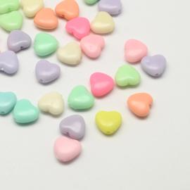 Acryl kraal heart mix