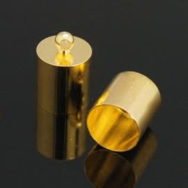 Eindkap goud 5mm
