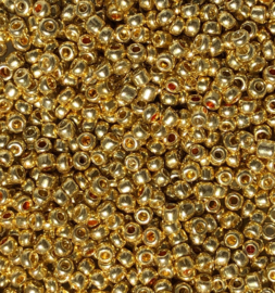 Rocailles gold 2mm