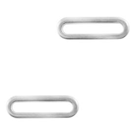Roestvrij stalen (RVS) Stainless steel bedels/tussenstuk small oval Goud