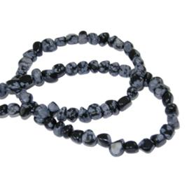 Chip stone snowflake obsidian 3-5mm