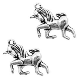 Bedel unicorn Antiek zilver