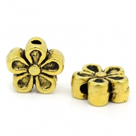 Kraal bloemetje goud