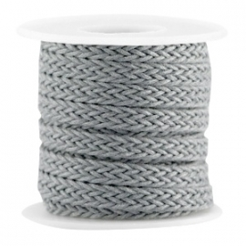 Braided wachsband grey