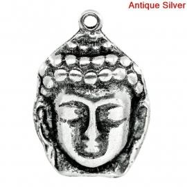 Charme buddha large antique silber