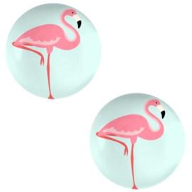 Cabochon 12mm Flamingo-light turquoise blue