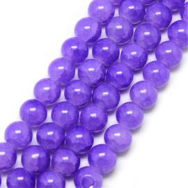 Glaskralen crackle baked bright violet 6mm