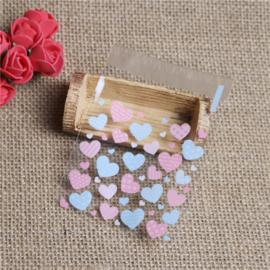Plastic verpakkingszakjes hart 10x10cm