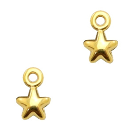 Bedels DQ metaal ster Antiek goud (nikkelvrij)