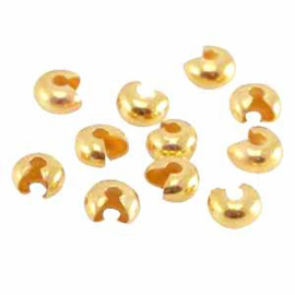 Knijpkraal verberger goud 3mm
