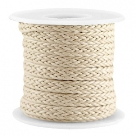 Braided wachsband camel beige