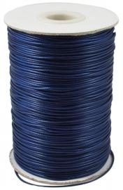 Waxkoord donker blauw 1mm